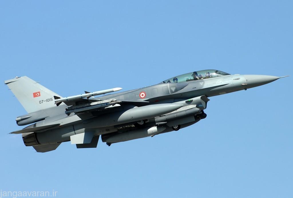 یکی از اف16 بلوک 52+ که در ترکیه ارتقا یافته است
