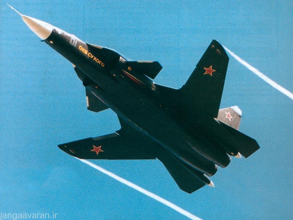 تصویری از سوخو47 برکوت اولین پرنده روسها با بال پیش گرا