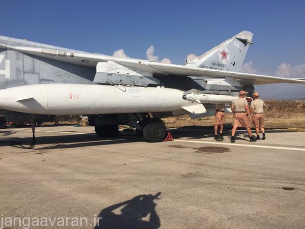موشک خا 29 بر روی فنسر ارتش روسیه در سوریه