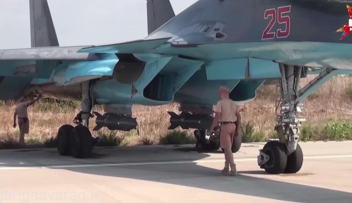 کاب 500 اس زیر ورودی هوا سوخو34 در سوریه