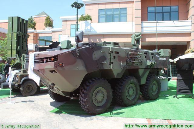 سامانه دفاع اکار روی خودروی ترکی تیرکس