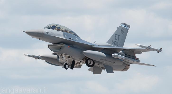 حمل هشت بمب اس دی بی 2 توسط اف16