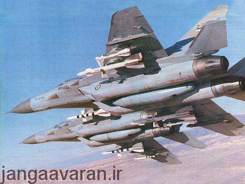 موشک ار60 و ار 27 زیر بال میگ29 نیروی هوایی ایران..موشک کوچک ار 60 است