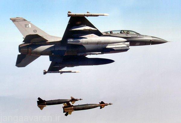 اف16 ارتش پاکستان و دو بمب لیزری جی بی یو 10