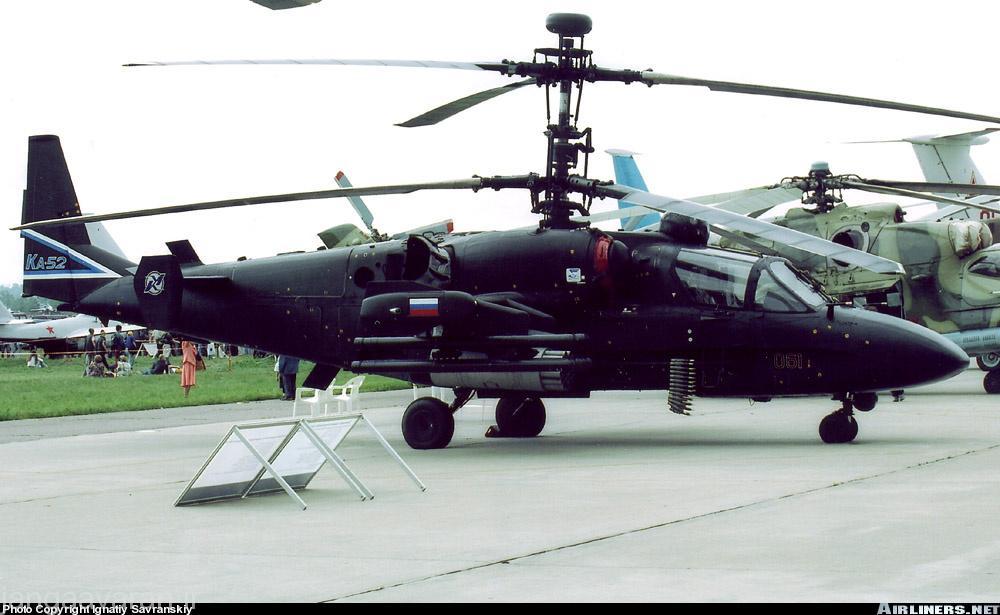 تصویری از کاموف به نمایش در امده در سال 2005 با یک رادار روی توپی ملخ