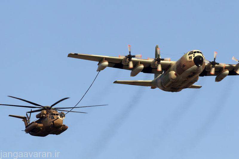 سوخت رسانی کی سی 130 ارتش اسرائیل به سی استالیون این ارتش