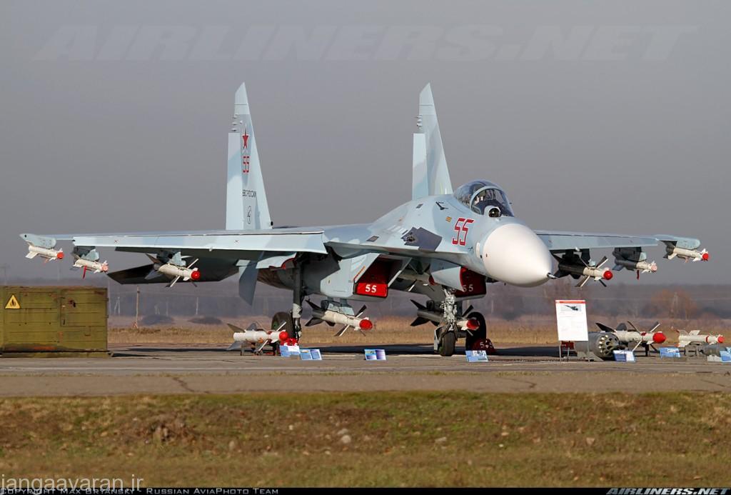 سوخو27 میتواند ده موشک هوا به هوا حمل کند. سه عدد زیر هر بال، یکی زیر هر ورودی هوا و دو عدد میان دو ورود هوا