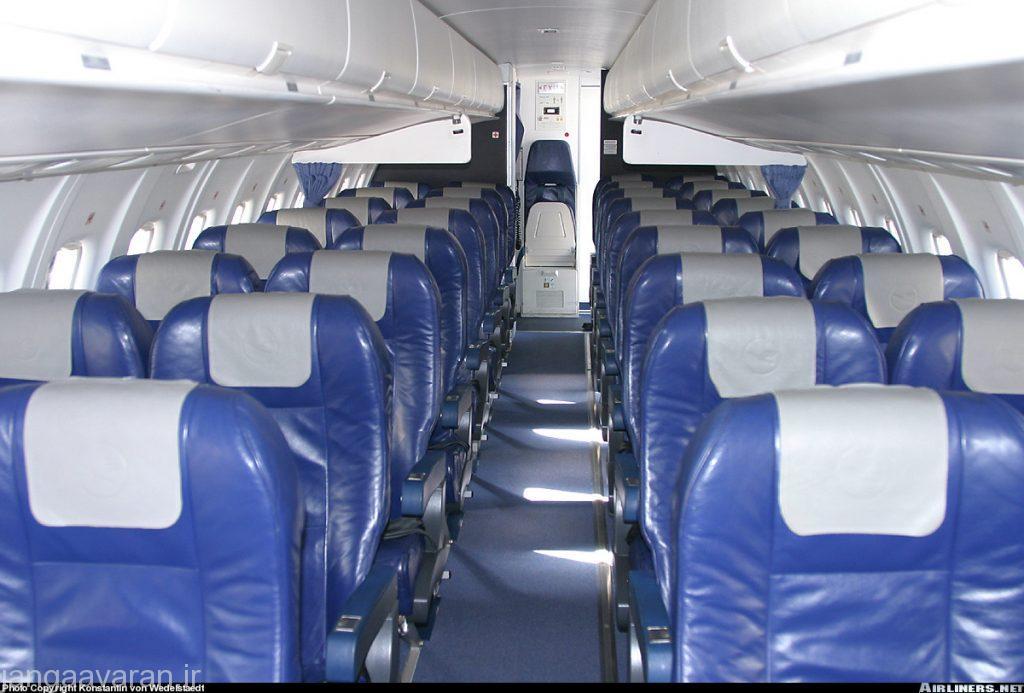 داخل ای تی ار 42 و چیدمان صندلیها.. در ای تی ار 72 نیز چیدمان همین شکل است فقط تعداد صندلیها فرق دارد