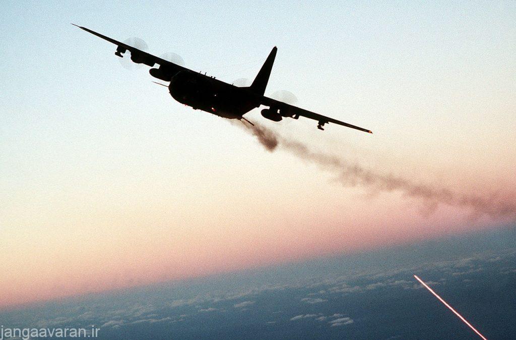 AC-130_gunship_firing_broadside_at_dusk
