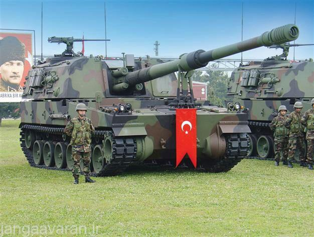 هويتزر خودکششی T-155 Firtina ارتش ترکيه