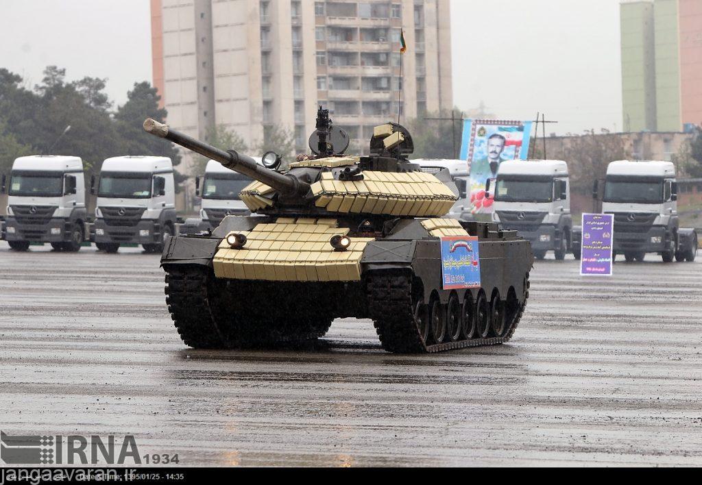 تانک های موجود در نیرو های مسلح جمهوری اسلامی ایران