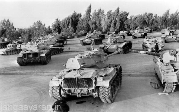 نمایش از تانک های غنیمت گرفته تانک های ایرانی در زمان جنگ در عراق