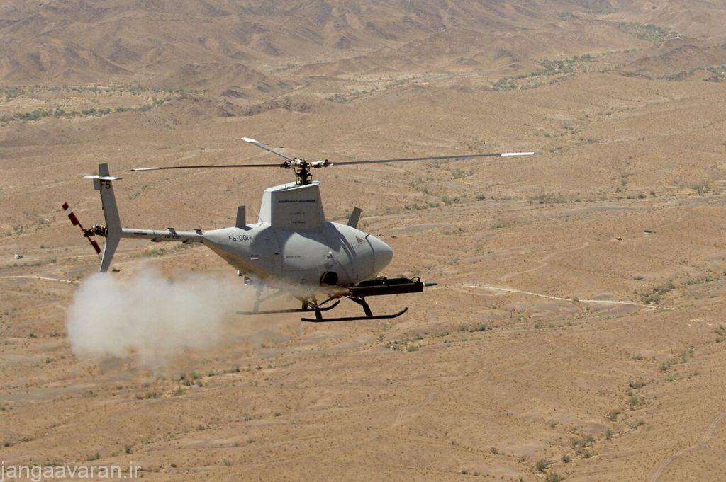 ام کیو 8 بی در حال شلیک راکت هدایت لیزری