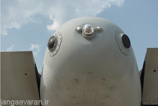 آنتن های عقبی RWR جنگنده A-10A با نام AN/ALR-69