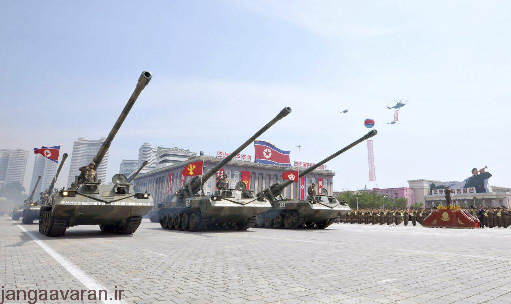 A military parade is held at Kim Il Sung Square in Pyongyang
