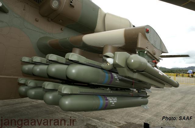 هشت موشک ماکوپا و دو موشک میسترال