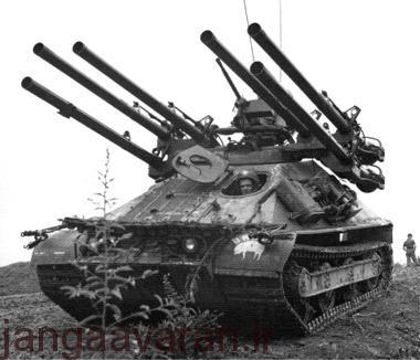 ام50 . تانک سبک امریکاها با شش 106 م م