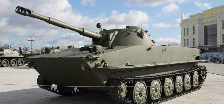 تانک سبک ابی خاکی PT-76