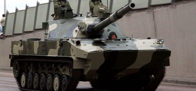 تانک هوابرد ابی خاکی 2S25 Sprut-SD