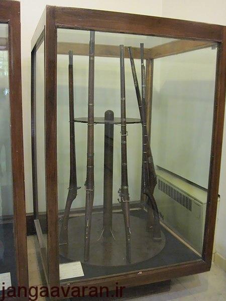 نمونه ای از تفنگ های ساخته شده در دوره صفوی