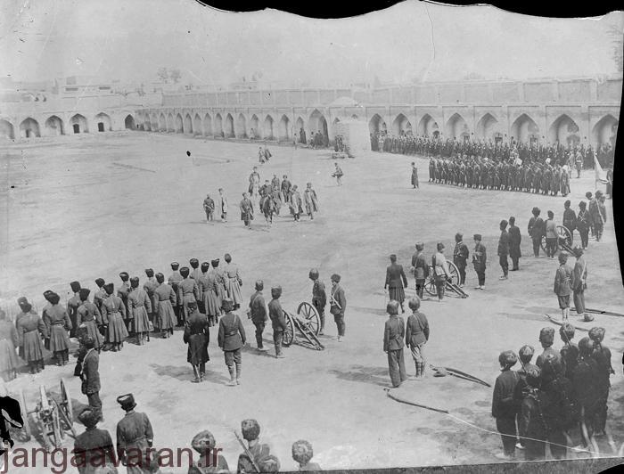 میدان مشق در دوره ناصرالدین شاه
