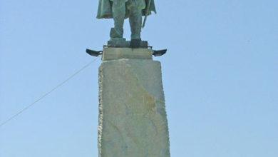 مجسمه امام قلی خان در جزیره قشم