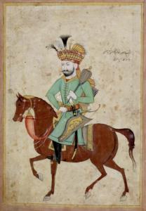 پرتره ایی از شاه صفی سوار بر اسب این نقاشی در اسکاتلند نگه داری می شود