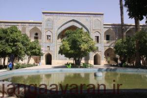 مدرسه خان در شیرازکه توسط امام قلی خان و پدرش ساخته شد