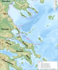 مسیرلشکرکشی های ارتش خشایارشاه در خاک یونان