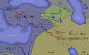 مسیر لشکرکشی ها و نبردهای ایران و روم در دوران شاپور دوم