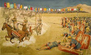 تصویری خیالی از نبرد بهرام چوبین با ترکان سابه شاه