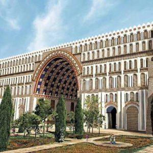 ایوان مدائن یا طاق کسری یکی از باشکوه ترین بناهای تیسفون در زمان آبادانی
