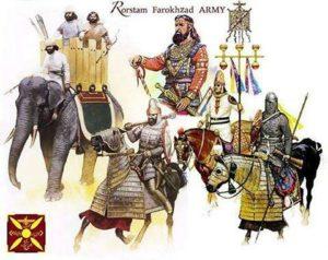 تصویری ازواحد های مختلف ارتش ساسانیان