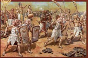 طرحی از شورش مصریان در زمان اردشیراول