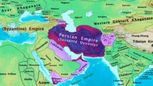 امپراتوری ساسانی در سال 600 میلادی و بعد از فتح یمن