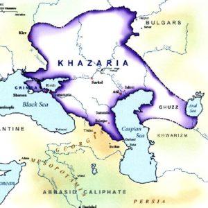 حدود سرزمین های اقوام خزر در شمال دریای کاسپین