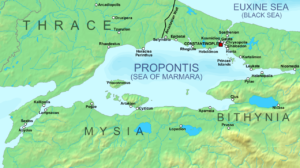 وضعیت استراتژیک کنستانتینوپل در هنگام محاصره توسط ساسانیان