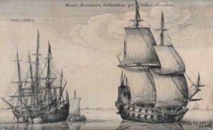 نمایی دیگر از کشتی های نیروی دریایی ایران در دوره نادرشاه