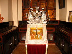 صلیب راستین که صلیب حضرت عیسی که در جریان تصرف اورشلیم به دست ساسانیان افتاد