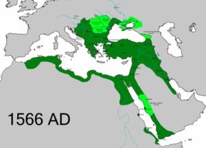 امپراتوری عثمانی در 1566 و سال مرگ سلیمان در اوج قدرت بود