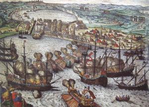حمله اروپایی ها به تونس در 1535 که منجربه شکست عثمانی شد