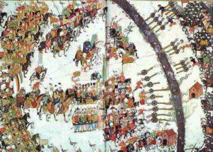 نبرد کرزستیس. محمد سوم قصد فرار از میدان جنگ را داشت اما با دلاوری های فرمانده ایتالیایی اش محمد چیکالا پیروز شد