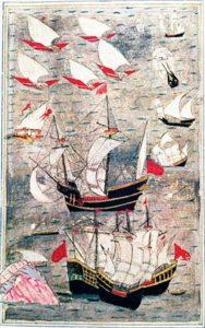 کشتی های نیروی دریایی عثمانی در دوره سلطان سلیمان به اقیانوس هند رسیدند