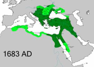امپراتوری عثمانی در 168 علی رغم شکست وین هنوزوسعت فراوانی داشت