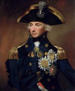 دریاسالار هوارشیو نلسون. نبوغ او در نبرد نیل باعث نابودی نیروی دریایی فرانسه شد