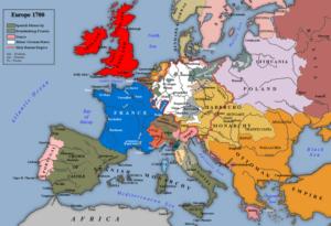 قاره اروپا در سال 1700. درحالی که کشورهای اروپایی به سرعت در حال پیشرفت بودند عثمانی با سلاطینی مثل احمد سوم سرگرم پرورش گل لاله!! بود