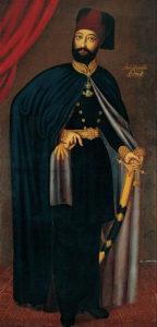 سلطان محمود دوم پسرسلطانه فرانسوی نقش دل. با هجوم بیرق دار به استانبول،برکناری مصطفی و کشته شدن سلیم او به تاج و تخت امپراتوری رسید
