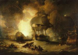 نابودی ناو فرماندهی اوریان در نبرد نیل