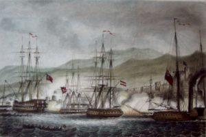 محاصره و بمباران عکا توسط کشتی های انگلیسی.بریتانیا علاقه ای به استقلال مصر نداشت