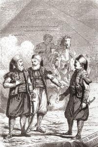 محمد علی پاشا پسرش ابراهیم و سرهنگ سو. او مسوول آموزش ارتش مصر بود